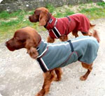Custom fitted cold weather dog jacket for large breeds.