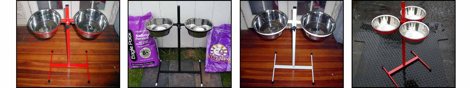 All about Great Danes exclusive, made in the USA, 32-inch adjustable elevated dog feeder.